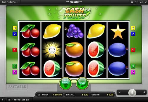 Der Spielautomat Cash Fruits Plus