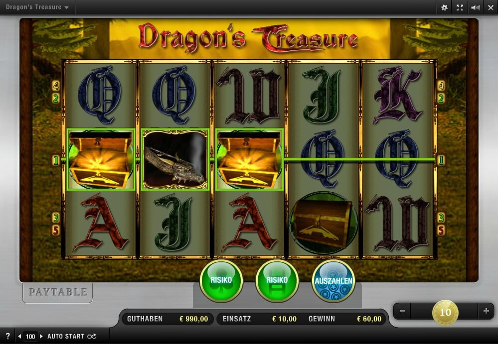Dragon's Treasure von Merkur online spielen