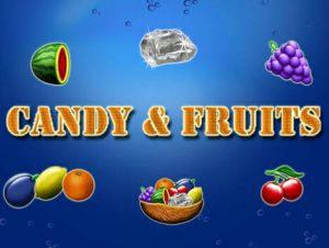 Candy & Fruits Spielautomaten Logo von Merkur