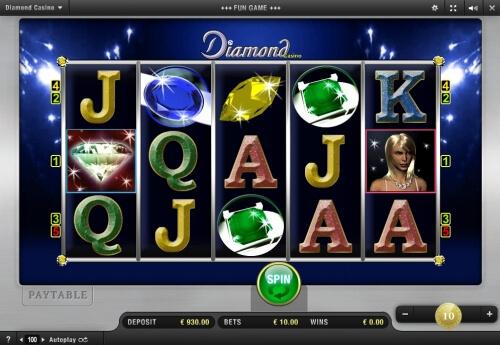 Spiellauf bei Diamond Casino