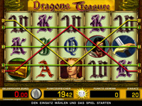 Gewinnlinien Dragon's Treasure